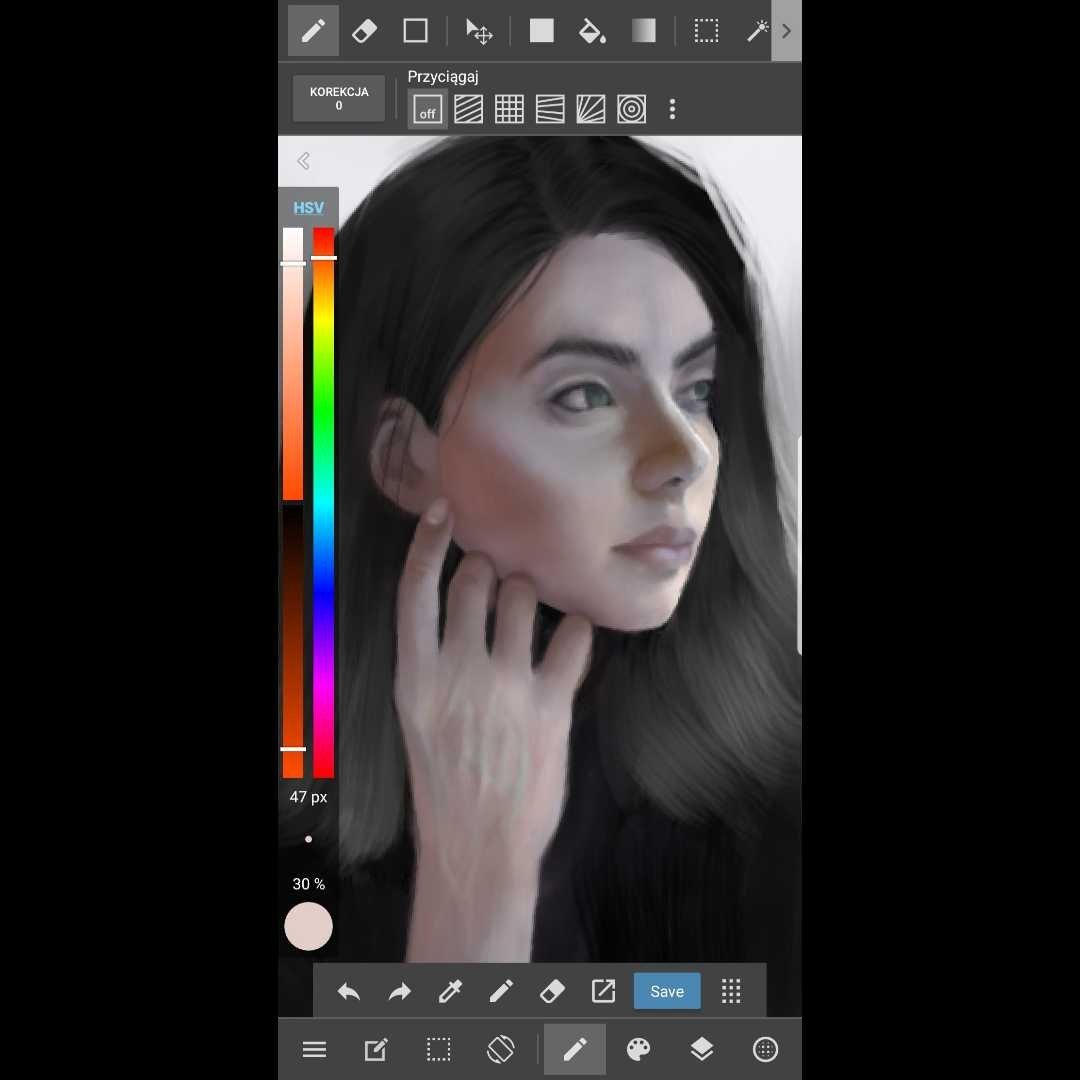 Medibang portret in progress