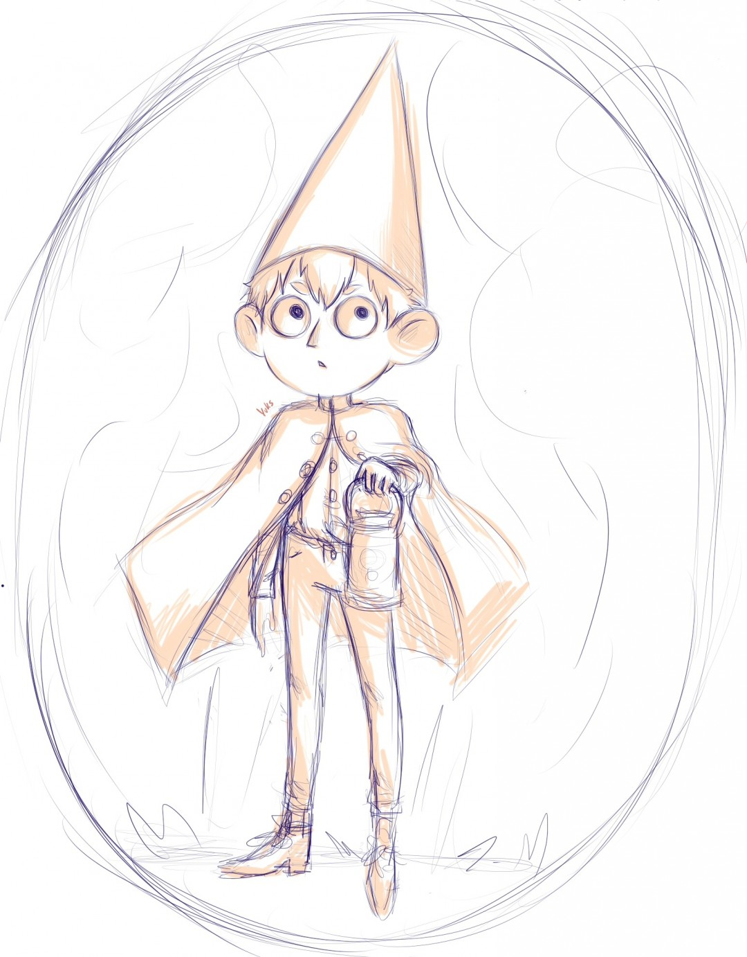 Over the Garden Wall (Wirt) szkic