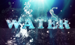 Water - typografia by Julietta
