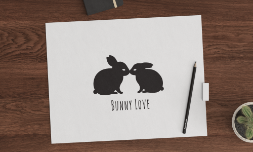 Bunny Love logo by RinneLasair