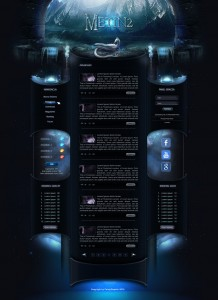 Blue layout- Metin2 by FeistyGraphic