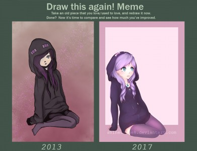 Draw This again Meme - Ender girl 2013 - 2017 by ShineCzanek