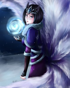 Midnight Ahri - League of Legends by Nindei