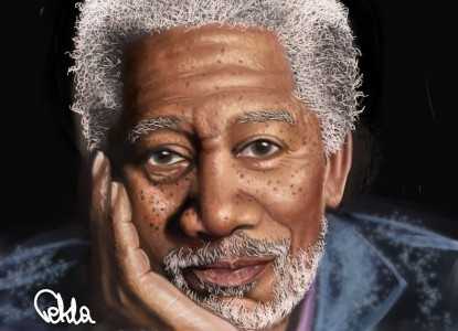 Morgan Freeman by Tekla