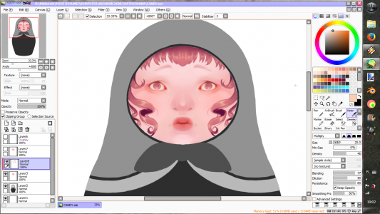 CANDY Matryoshka WIP by Misia
