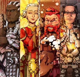 Dragon Age Origins Bookmarks II by Quarval