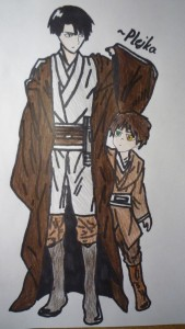 Attack on StarWars,Levi i Eren by Plejka