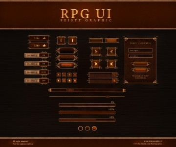 RPG UI by FeistyGraphic