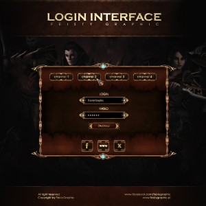 PSD Login Interface by FeistyGraphic