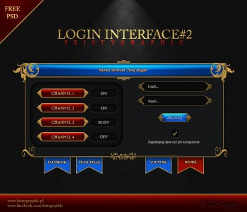 PSD Login Interface RPG by FeistyGraphic