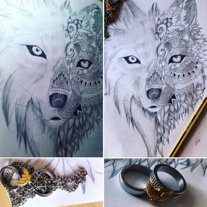 half Wolf Tattoo by Bekardixx
