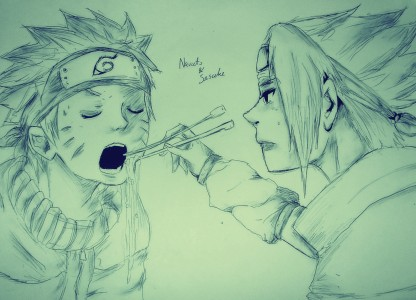 Naruto and Sasuke by Mars
