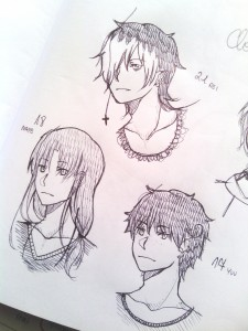 oc doodles by Miyotan