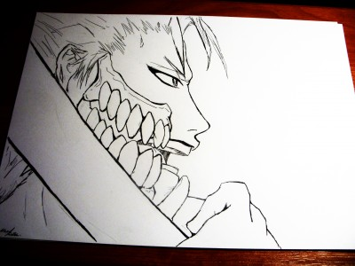 Grimmjow lineart by Mars