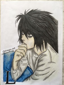 Lewliet (L) - Death Note by zisuya