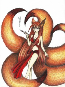 Kitsune (OC) by Shiromishi