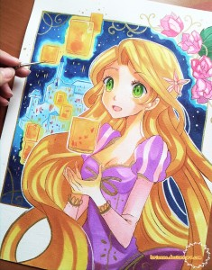 Tangled - I See The Light by Larienne