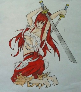 Erza by Animka