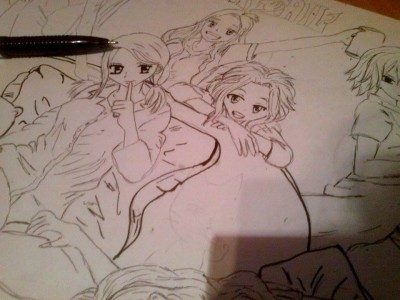 Fairy Tail Girls (WIP) by Olinek