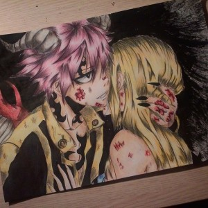 Natsu and Lucy by Olinek