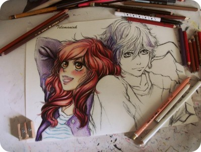 wip , Ao Haru Ride by mona13