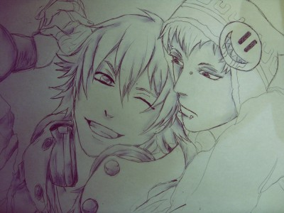 Aoba and Noiz WIP by Mars