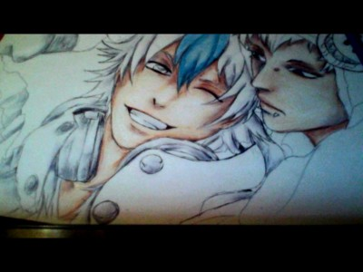 Aoba and Noiz WIP 2 by Mars