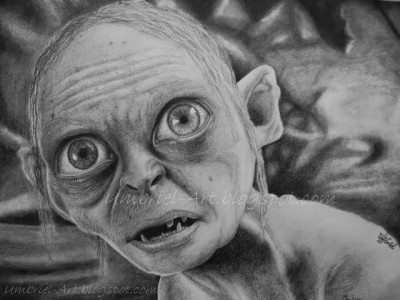 Gollum szkic by Umbriel