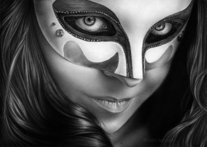 Girl in Mask by lidiaspringer