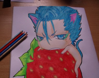 Strawberries love Grimmjow by SpookyBoogie