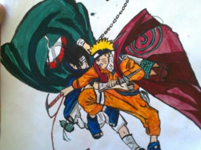 Naruto vs Sasuke by MadaIta