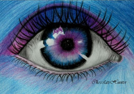 Blue-purple eye by ChocolateHunter