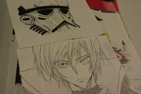 Stormtrooper and Lelouch by BK201