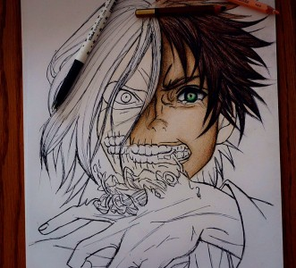 Eren in progress by senmetsu
