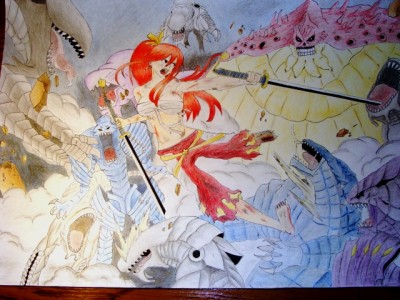 Erza vs 100 monsters by NataliaC