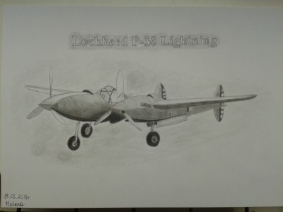Lockheed P-38 Lightning by Marla