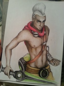 Ekko (League of Legends) by YoshikaArt