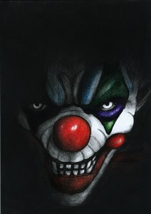 Scary clown by Shiromishi