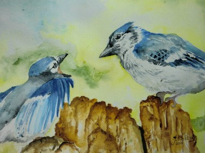 Blue Birds by Kolibia