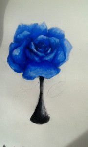 Blue rose by Ciri
